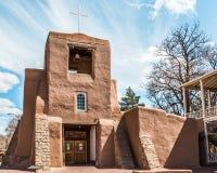 圣米格尔火山教会,圣菲,新墨西哥 图库摄影