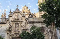 圣米格尔火山教会,赫雷斯de la弗隆特里,西班牙 免版税图库摄影