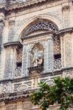 圣米格尔火山教会细节  children ・ de复活节欧洲弗隆特里赫雷斯la队伍西班牙 免版税库存照片