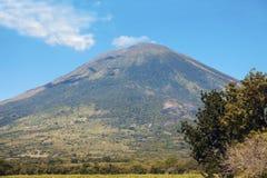 圣米格尔火山火山 免版税图库摄影