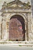 圣米格尔火山,罗马式转折, 13世纪教会  免版税库存图片