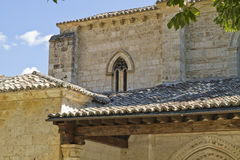 圣米格尔火山,罗马式转折, 13世纪教会  库存照片
