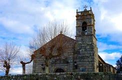 圣米格尔火山de Bouzas教会  免版税图库摄影