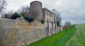圣米歇尔修道院石墙在迈勒泽 库存图片