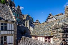 圣米歇尔山屋顶  免版税库存照片