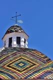 圣米谢勒, Alghero,撒丁岛,意大利教会的圆顶  免版税库存照片