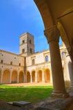 圣米谢勒Arcangelo修道院。蒙泰斯卡廖索。巴斯利卡塔。 库存图片