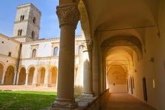 圣米谢勒Arcangelo修道院。蒙泰斯卡廖索。巴斯利卡塔。 免版税库存图片