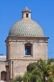 圣米谢勒Arcangelo教会。布林迪西。普利亚。意大利。 免版税图库摄影