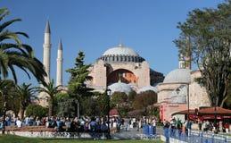 圣索非亚大教堂博物馆在伊斯坦布尔市 免版税库存照片