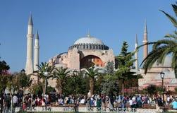 圣索非亚大教堂博物馆在伊斯坦布尔市 免版税库存图片