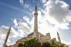 圣索非亚大教堂外部,伊斯坦布尔,土耳其 免版税库存图片