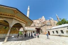 圣索非亚大教堂外部,伊斯坦布尔,土耳其 库存图片