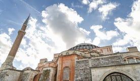 圣索非亚大教堂外部,伊斯坦布尔,土耳其 库存照片