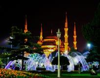 圣索非亚大教堂清真寺在晚上 库存图片