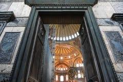 圣索非亚大教堂美妙的内部 库存照片