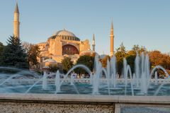 圣索非亚大教堂Ayasofya,伊斯坦布尔,土耳其 库存照片