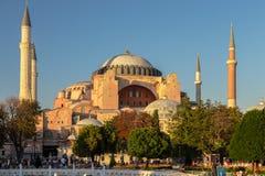 圣索非亚大教堂Ayasofya,伊斯坦布尔,土耳其 免版税库存图片