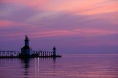 圣约瑟夫北部码头光,在1906-1907建立 库存照片
