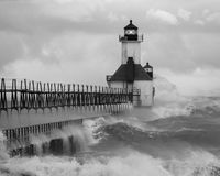 圣约瑟夫北部码头灯塔 免版税库存图片