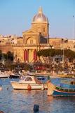 圣约瑟夫教会在Kalkara,马耳他 免版税图库摄影