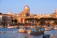 圣约瑟夫教会在Kalkara,马耳他 免版税库存图片