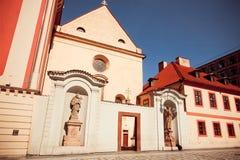 圣约瑟夫17世纪天主教会墙壁  联合国科教文组织世界遗产名录记数器 库存图片