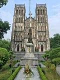圣约瑟夫` s大教堂在河内,越南 免版税图库摄影