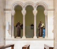 圣约瑟夫` s教会的内部在老城拿撒勒在以色列 库存图片