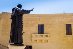 圣约翰保禄二世教皇雕象在马耳他,戈佐岛Cathedarl 免版税库存图片