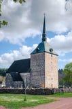 圣约翰和公墓Babtist教会  Sund 奥兰群岛 库存图片