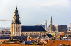圣约翰和圣斯德望教会在布鲁塞尔 免版税库存图片