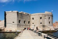 圣约翰堡垒在杜布罗夫尼克,克罗地亚, 库存照片