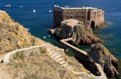 圣约翰堡垒浸礼会教友在Berlenga海岛,葡萄牙 免版税库存图片