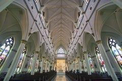 圣约翰大教堂浸礼会教友内部,查尔斯顿 免版税图库摄影