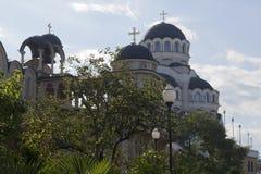 圣约翰寺庙复杂风雨棚的看法浸礼会教友在解决爱德乐,索契 库存图片