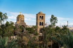 圣约翰接近约旦河的施洗约翰教堂 图库摄影