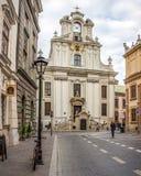 圣约翰教会在克拉科夫,波兰 库存图片