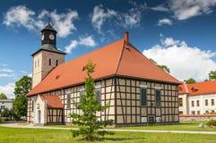 圣约翰教会在皮什镇,浸礼会教友XVIIth世纪寺庙,波兰 免版税库存图片
