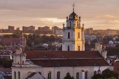 圣约翰教会在维尔纽斯 免版税图库摄影