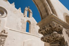 圣约翰教会在西勒鸠斯,西西里岛 库存照片