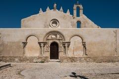 圣约翰教会在西勒鸠斯,西西里岛 图库摄影