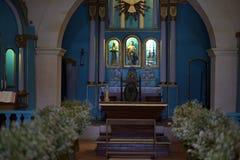 圣约翰教会法坛浸礼会教友在Trancoso巴伊亚 库存图片