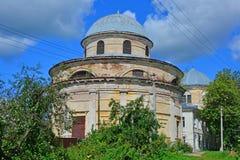 圣约翰斩首的教会浸礼会教友在Torzhok市,俄罗斯 免版税图库摄影