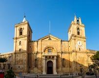 圣约翰斯共同大教堂在瓦莱塔,马耳他 库存照片