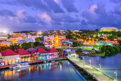 圣约翰斯安提瓜岛 免版税库存照片