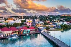 圣约翰斯安提瓜岛 库存图片