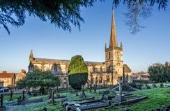 圣约翰斯教会和公墓Frome,萨默塞特 免版税库存图片