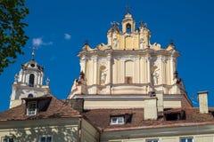 圣约翰斯教会的片段  立陶宛维尔纽斯 库存照片