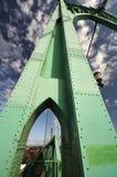 圣约翰斯有历史的桥梁视图  免版税库存照片